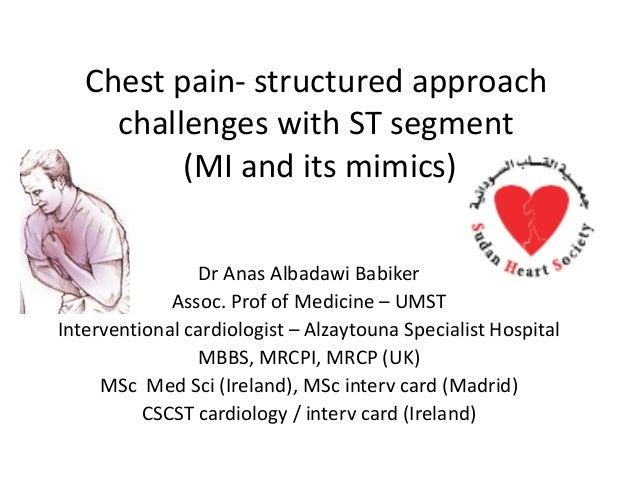 Chest pain  structured approach