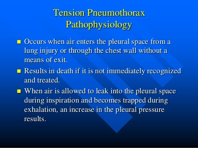 Tension Pneumothorax Tension Pneumothorax