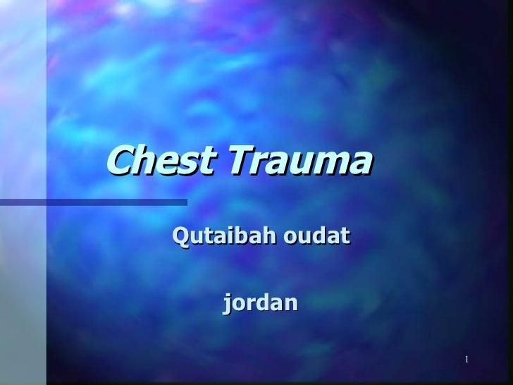 Chest trauma  nur 415-fall 2009