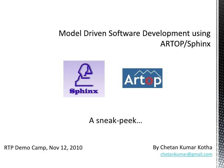 Model Driven Application Development using Artop/Sphinx