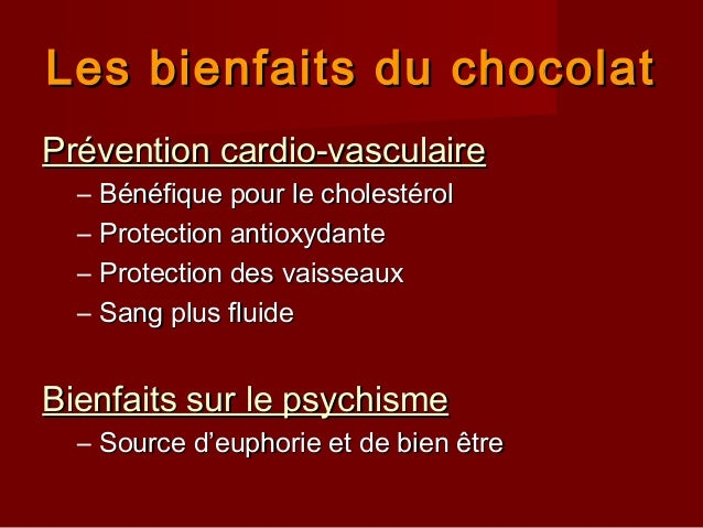 Chocolats à écrire, collection Les bienfaits du chocolat  Rouge Papille
