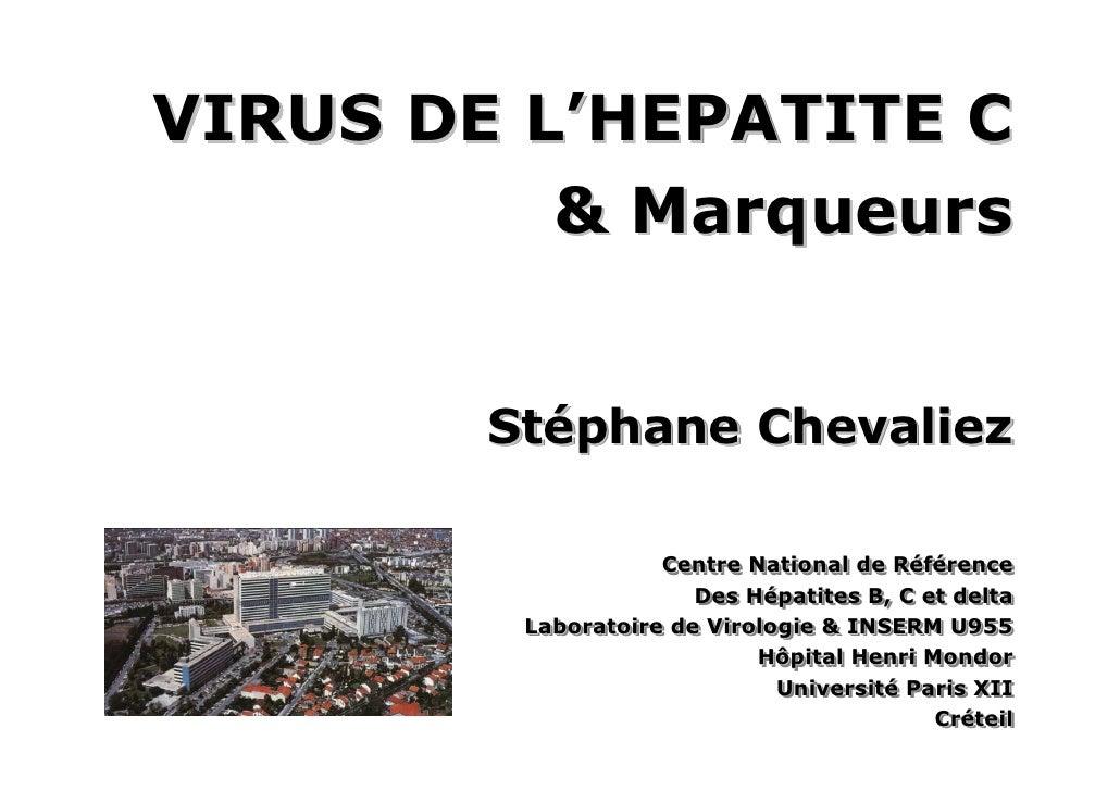 Chevaliez Hcv  Virus Et Marqueurs