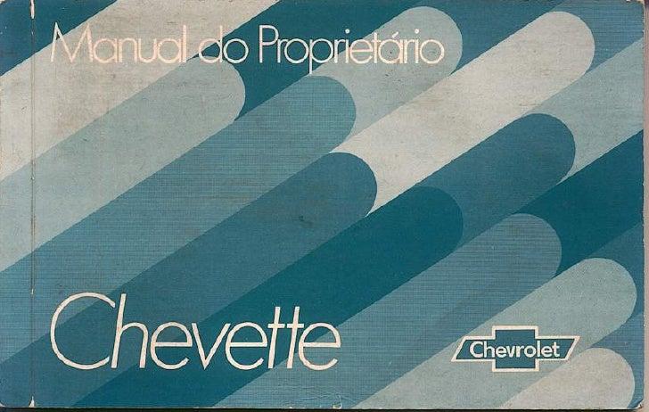 Chevette 1980 manual do proprietario