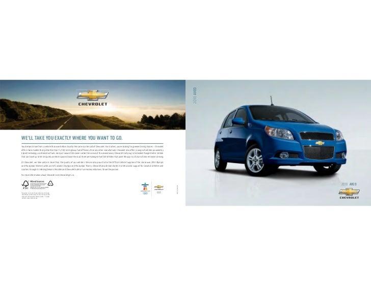 Chevrolet  Aveo  High  M P G  Compact  Car  Brochure