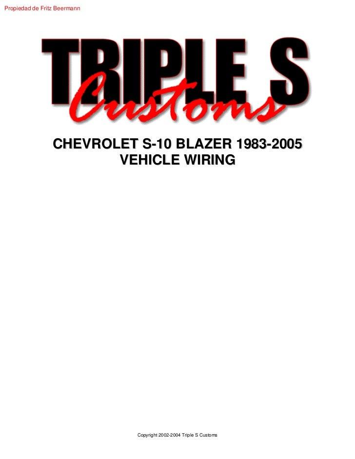 Chevrolet S 10 Blazer 1983 2005