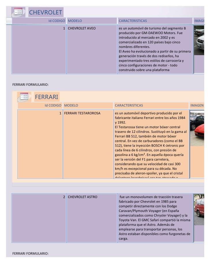 Chevrolet formulario