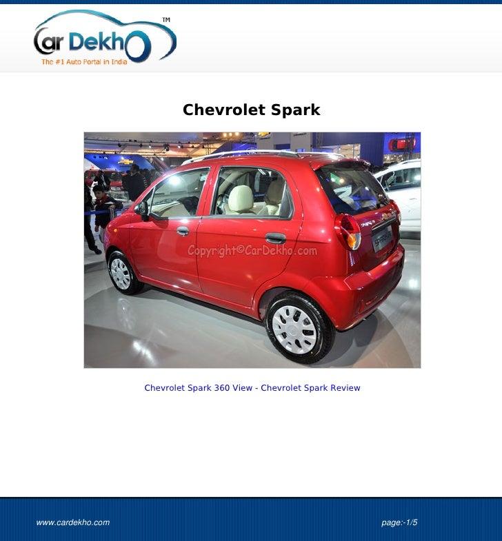 Chevrolet Spark                   Chevrolet Spark 360 View - Chevrolet Spark Reviewwww.cardekho.com                       ...