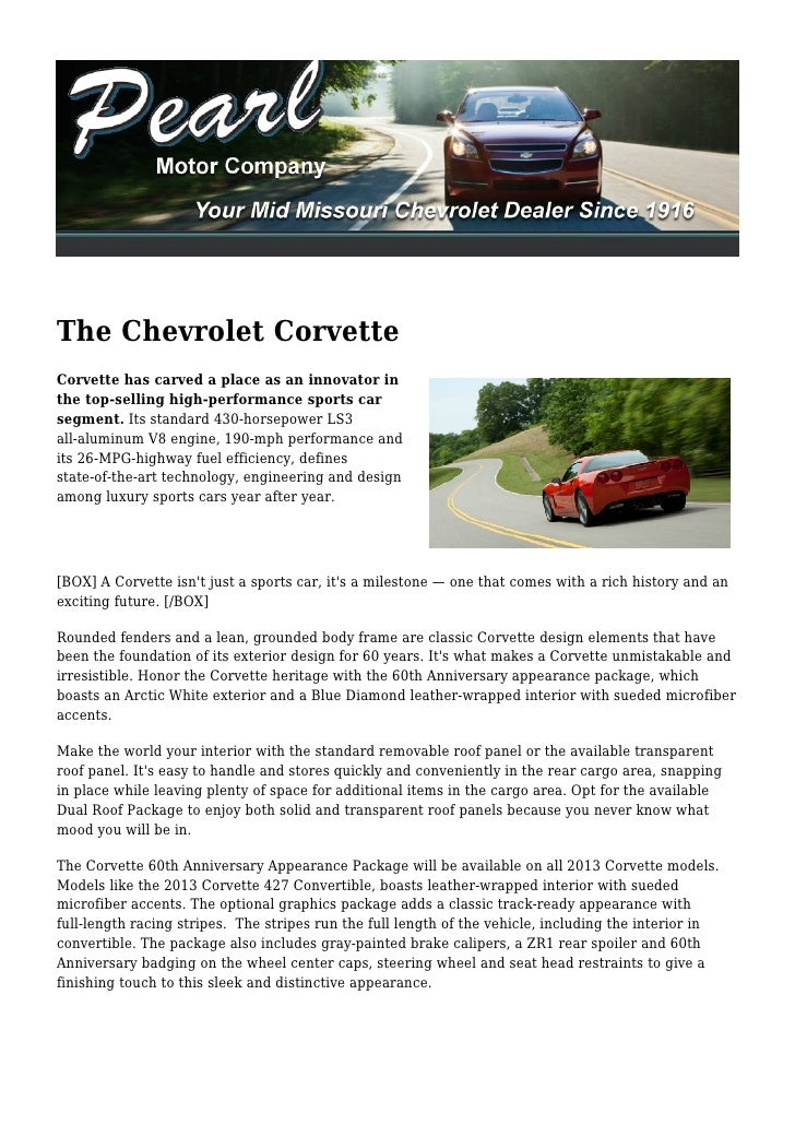 The Chevrolet CorvetteCorvette has carved a place as an innovator inthe top-selling high-performance sports carsegment. It...