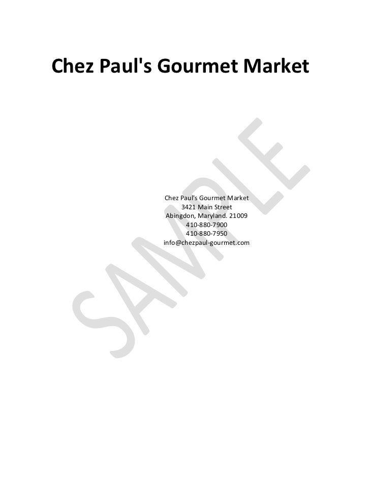 Chez Pauls Gourmet Market            Chez Pauls Gourmet Market                 3421 Main Street            Abingdon, Maryl...