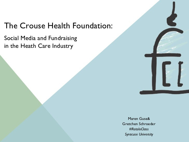 Social Media Strategy Overview for Crouse Health Foundation