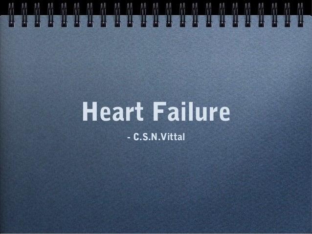 Heart Failure - C.S.N.Vittal
