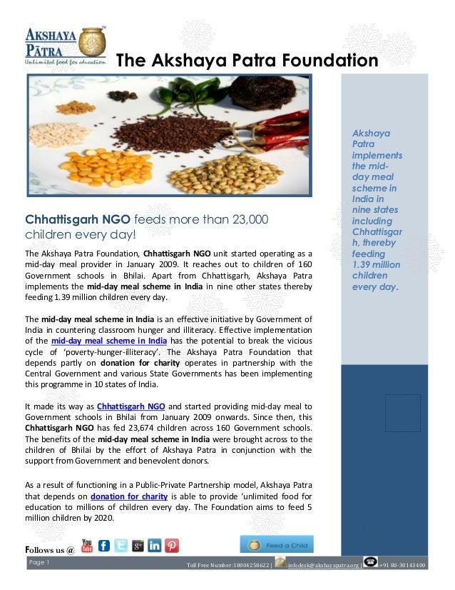 Chhattisgarh ngo feeds more than 23,000 children every day!