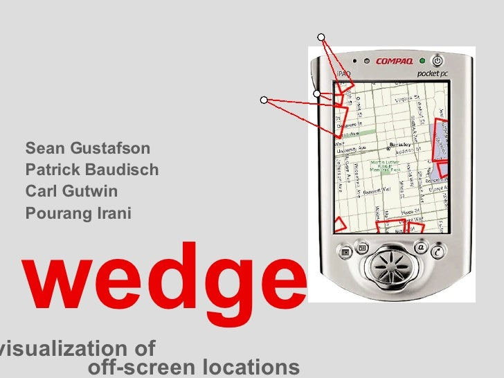 wedge Sean Gustafson Patrick Baudisch Carl Gutwin Pourang Irani clutter-free visualization of  off-screen locations
