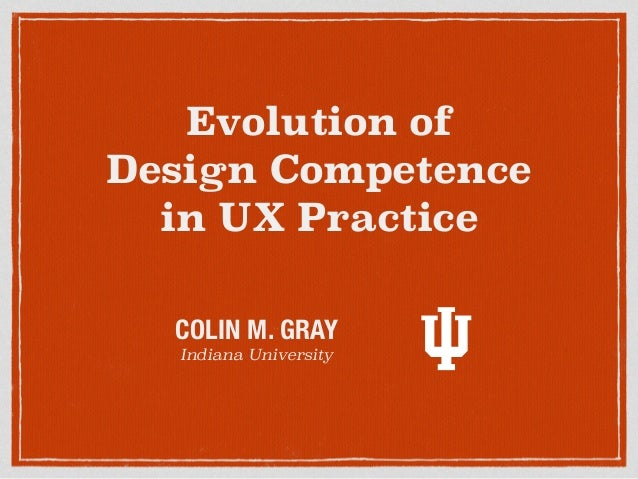 Evolution of Design Competence in UX Practice