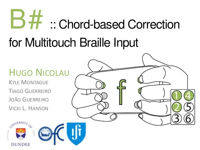 B#: Chord-based Correction for Multitouch Braille Input