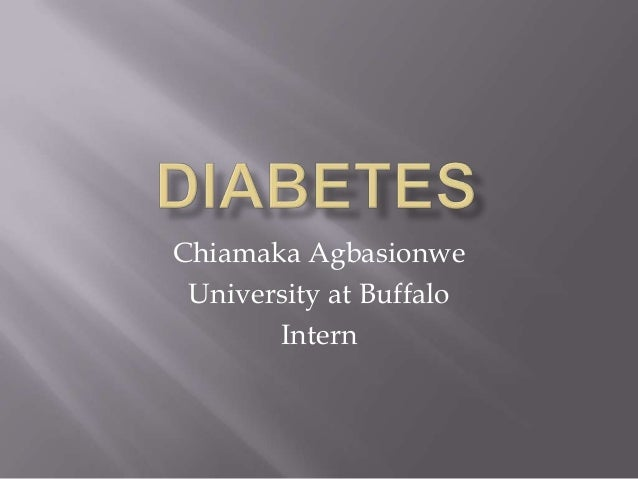 Chiamaka  diabetes presentation