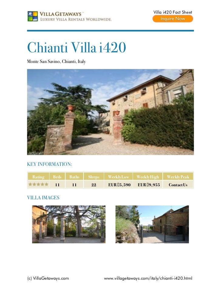 Chianti villa i420,italy
