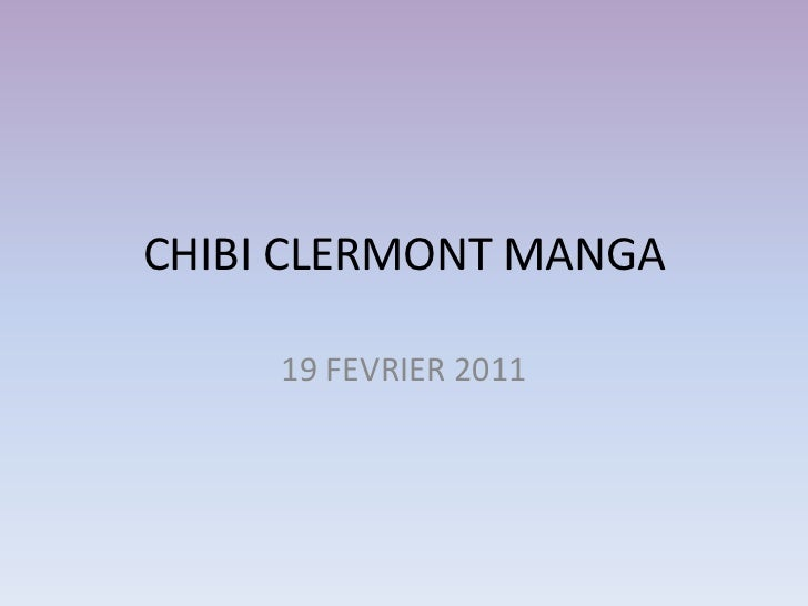 Chibi Clermont manga