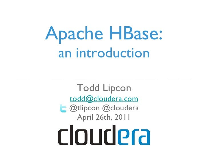 Chicago Data Summit: Apache HBase: An Introduction