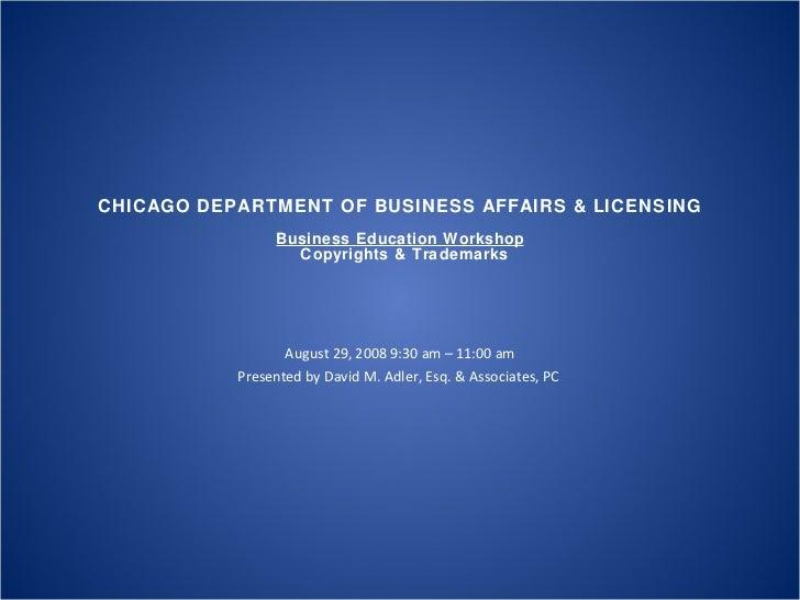 Chicago business affairs workshop (ip)