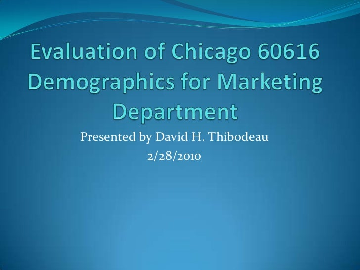Presented by David H. Thibodeau           2/28/2010
