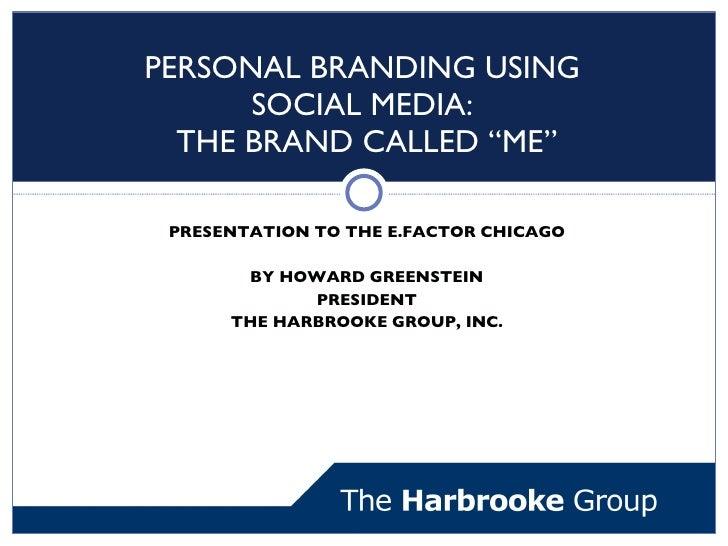 Chicago Efactor - Personal Branding