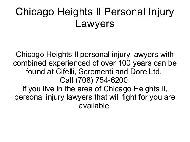 Chicago Heights Il Personal Injury           Lawyers Chicago Heights Il personal injury lawyers withcombined experienced o...
