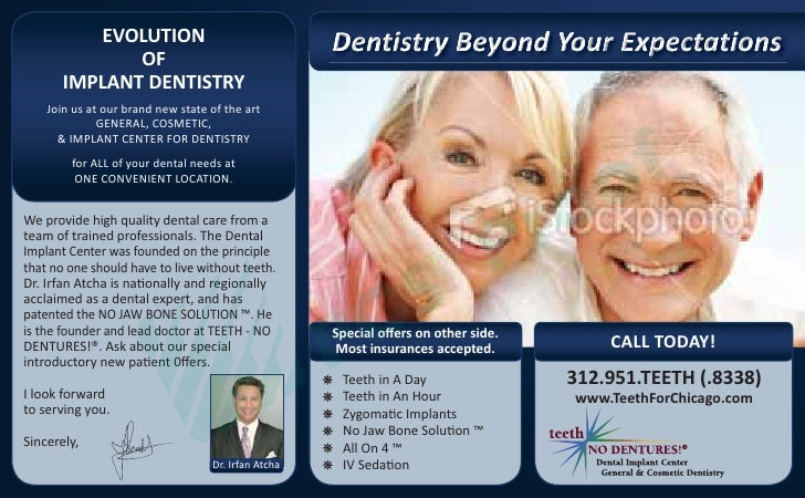 EVOLUTION              OF       IMPLANT DENTISTRY    Join us at our brand new state of the art              GENERAL, COSME...