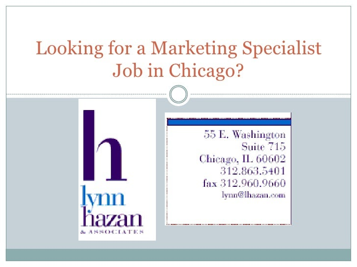 Chicago Marketing Specialist Job Opening