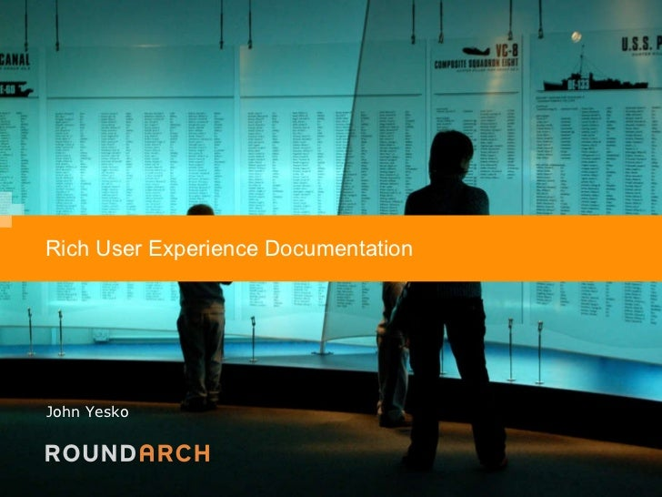 Rich User Experience Documentation - Update
