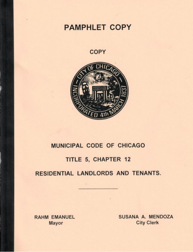 Chicago Residential Landlord and Tenant Ordinance Official