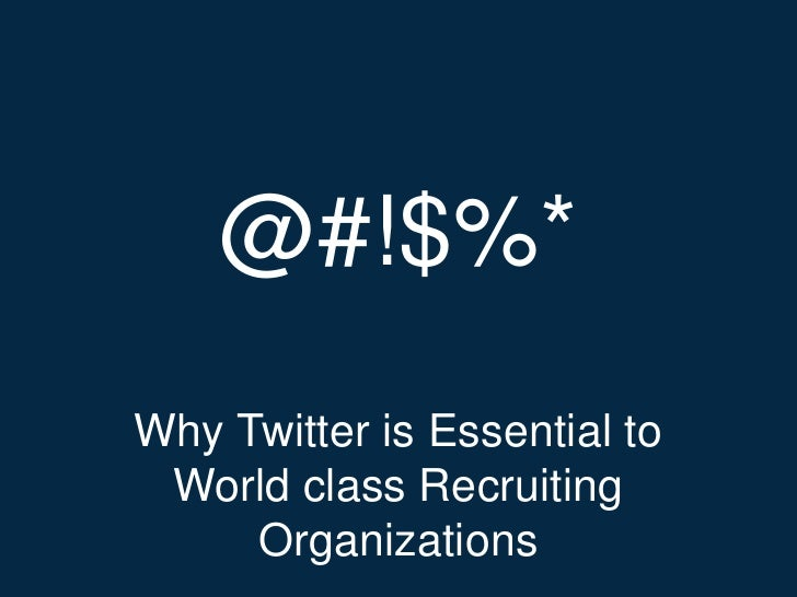 Twitter for Recruiting - Chicago SMA 2012