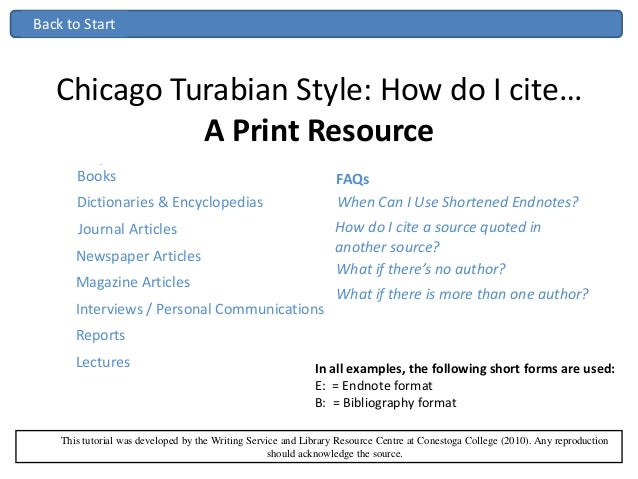 endnote chicago style