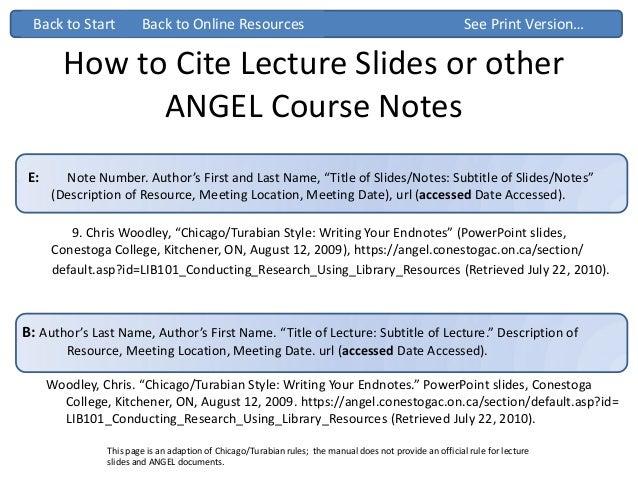 How do i cite a