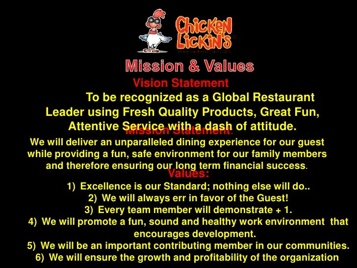 Mission Statement Examples For Restaurants