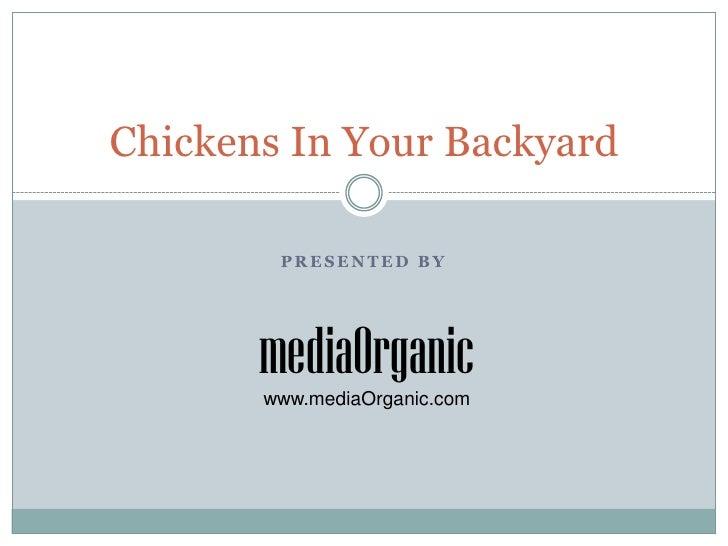 Presented by<br />Chickens In Your Backyard<br />mediaOrganic<br />www.mediaOrganic.com<br />