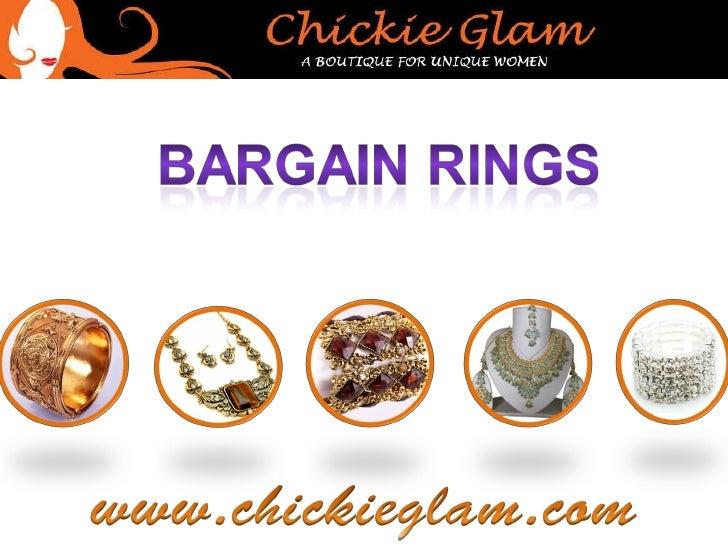 Fashionable Bargain Rings
