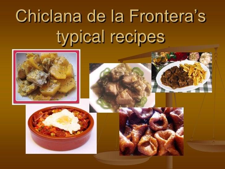 Chiclana de la Frontera's      typical recipes