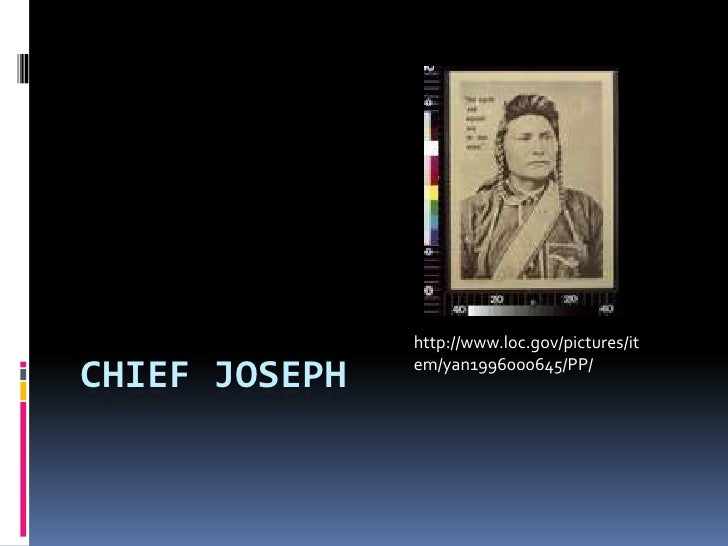 CHIEF JOSEPH<br />http://www.loc.gov/pictures/item/yan1996000645/PP/<br />