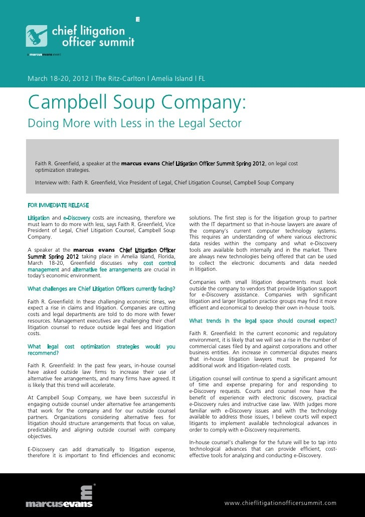 marketing problems affect campbells soup company Campbell soup company (campbell) was a maker and seller of food products the company had its head office at camden, new jersey, usa as of november 2011, it was the largest soup manufacturer globally.