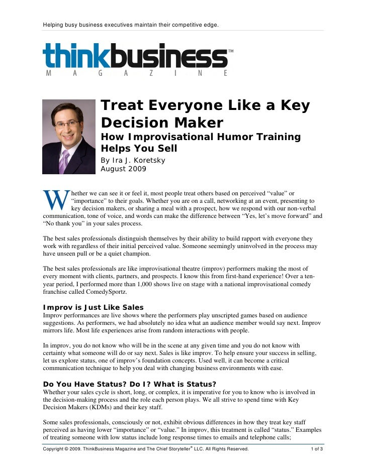 how to become a decision maker