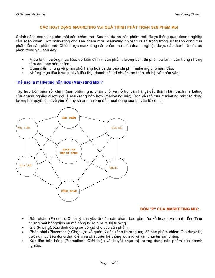 Chiến lược Marketting                                                                       Ngo Quang Thuat               ...