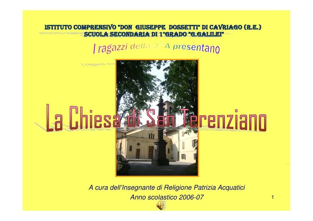 26 Traccia 26.wma     A cura dell'Insegnante di Religione Patrizia Acquatici                Anno scolastico 2006-07       ...