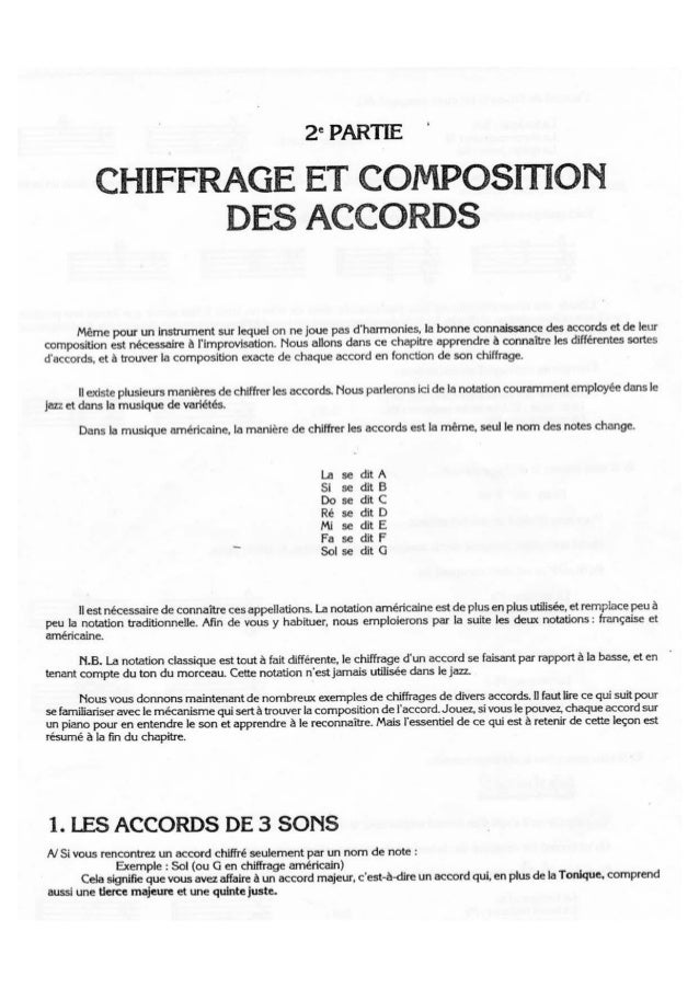 Chiffrage et composition des accords