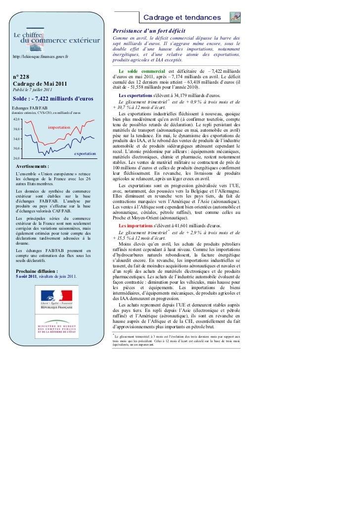 Cadrage et tendances                                                        Persistance d'un fort déficit                 ...
