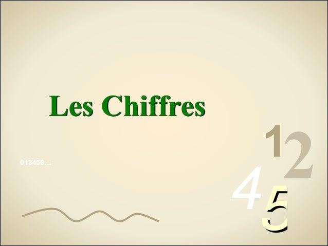 Les Chiffres 013456…  12  45