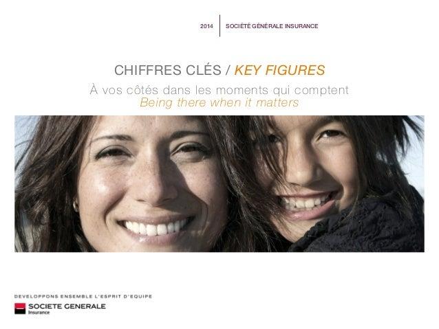 SOCIÉTÉ GÉNÉRALE INSURANCE2014 À vos côtés dans les moments qui comptent Being there when it matters CHIFFRES CLÉS / KEY F...