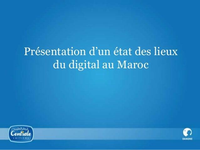 Présentation d'un état des lieux du digital au Maroc