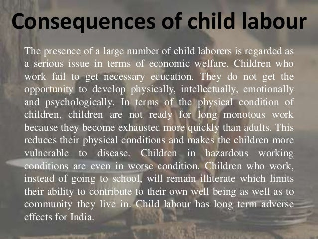 Child labour in india essay
