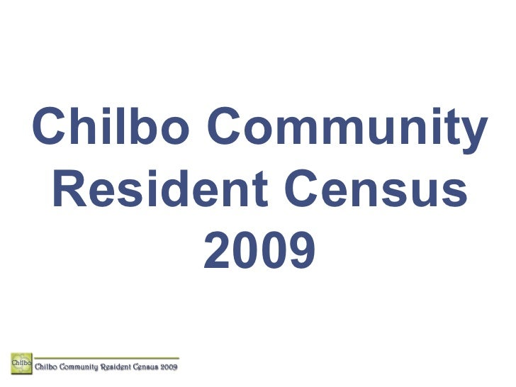 Chilbo Community Annual Resident Census 2009